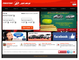prestigerentacar.com screenshot