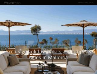 prestigevillas.com screenshot