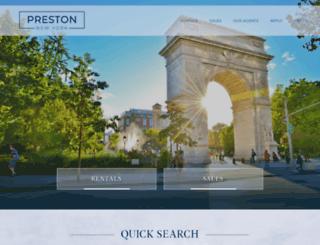 prestonny.com screenshot