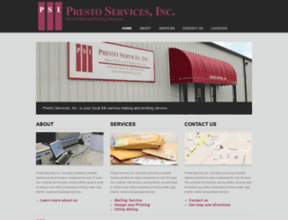 prestoservices.com screenshot