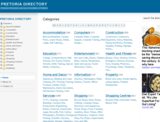 pretoriadirectory.co.za screenshot