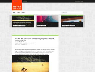 previewgadgets.com screenshot