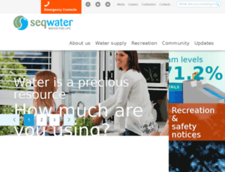 previous.seqwater.com.au screenshot