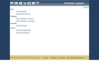 prevostparts.volvo.com screenshot