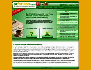 prforless.co.uk screenshot