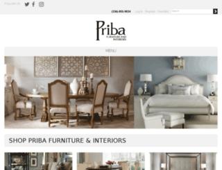 pribafurniture.com screenshot