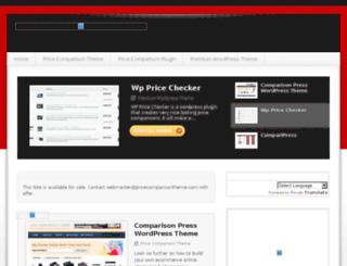pricecomparisontheme.com screenshot