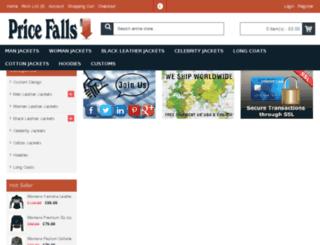 pricefalls.co.uk screenshot