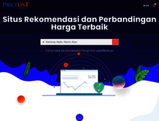 pricelist.co.id screenshot