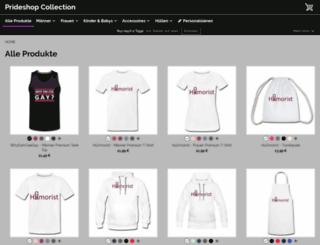 prideshop-collection.spreadshirt.net screenshot