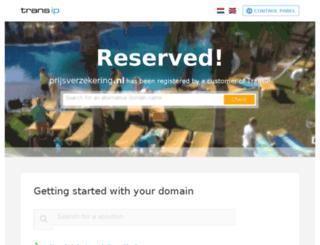 prijsverzekering.nl screenshot