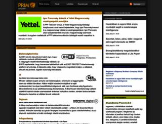 prim.hu screenshot