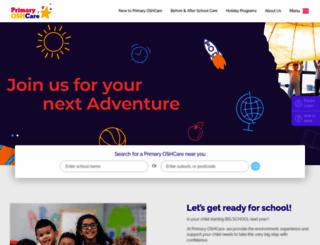 primaryoshcare.com.au screenshot