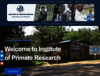 primateresearch.org screenshot