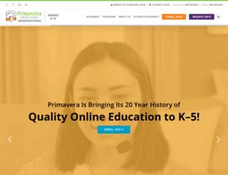 primavera-online-high-school.com screenshot