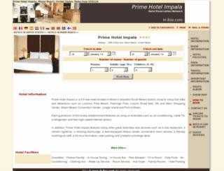 prime-hotels-impala-miami.h-rsv.com screenshot