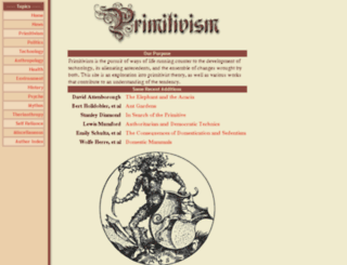 primitivism.com screenshot
