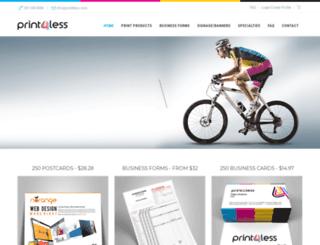 print4less.com screenshot
