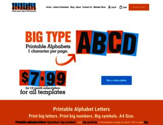 printable-alphabets.com screenshot