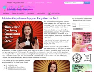 printable-party-games.com screenshot