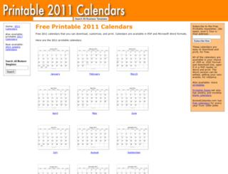 printable2011calendar.com screenshot
