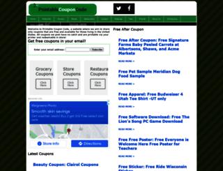 printablecouponcode.com screenshot