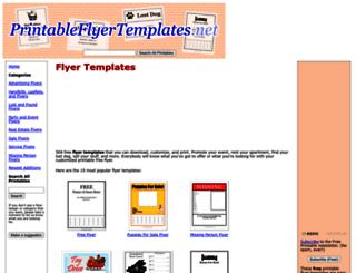 printableflyertemplates.net screenshot