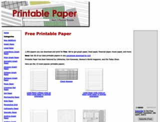 printablepaper.net screenshot