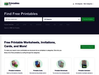printablesfree.com screenshot