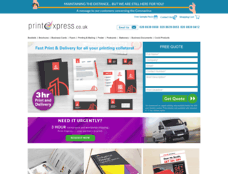 printexpress.co.uk screenshot