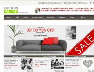 printitoncanvas.co.uk screenshot