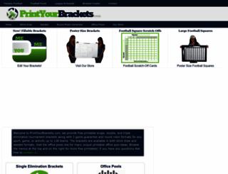 printyourbrackets.com screenshot
