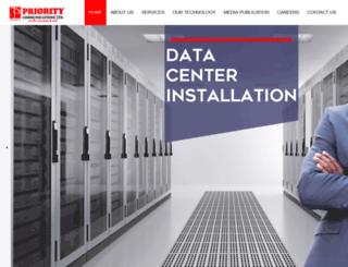 prioritycomms.net screenshot