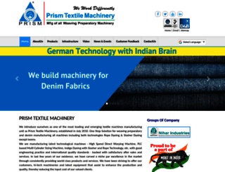 prismtextilemachinery.com screenshot