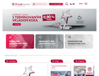 privatbanka.sk screenshot