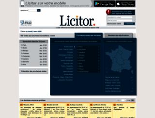 private.licitor.com screenshot