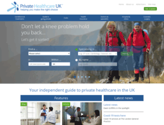 privatehealth.co.uk screenshot