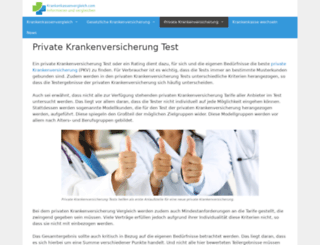 privatekrankenversicherungtest.info screenshot