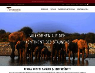 privatesafaris.ch screenshot