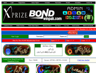 prizebondwinpak.com screenshot