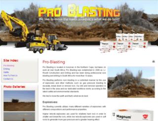 pro-blasting.co.za screenshot