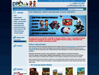 pro-edu.ro screenshot