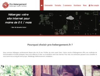 pro-hebergement.fr screenshot