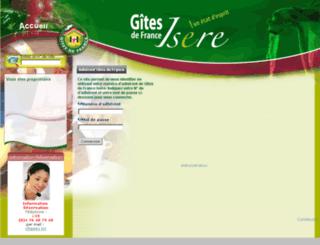 pro.gites-de-france-isere.com screenshot