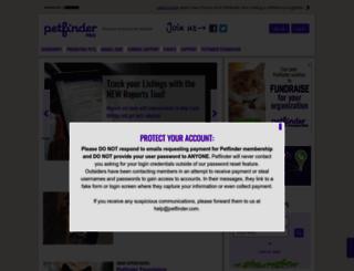 pro.petfinder.com screenshot