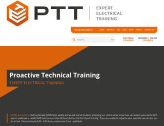 proactivetechnicaltraining.co.uk screenshot