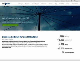 proalpha.com screenshot