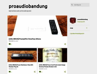 proaudiobandung.blogspot.com screenshot