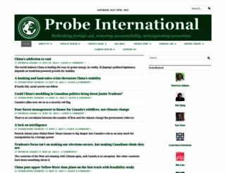 probeinternational.org screenshot