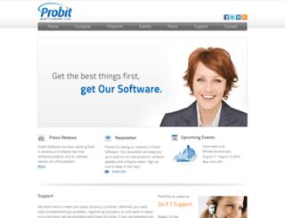 probitsoftware.com screenshot